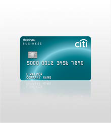 I work hard and my CitiBusiness ThankYou® Card does too