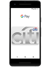 Google Pay Tap Screen with a Citi card