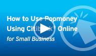 How to use Popmoney - Using Citi Online for Small Business