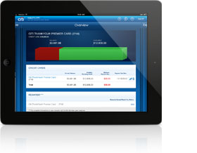 Mobile Banking with Citibank<sup>&reg;</sup> for iPad<sup>&reg;</sup>